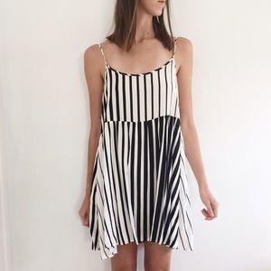 American Apparel Striped Babydoll Dress
